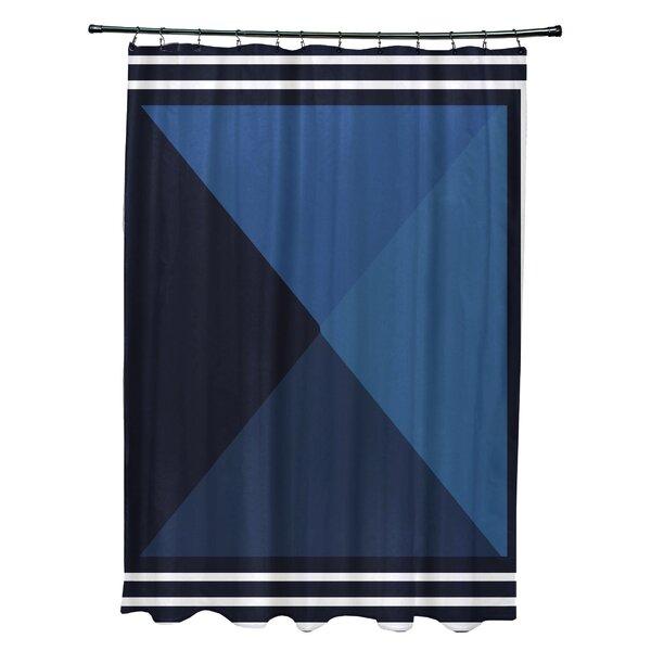 Breakwater Bay Bartow Nautical Angles Shower Curtain