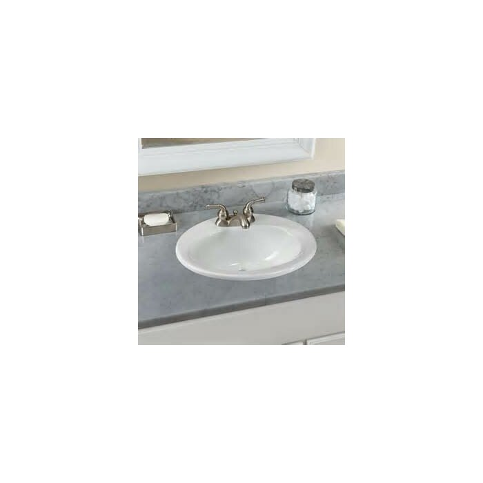 Admirable Ceramic Oval Drop In Bathroom Sink With Overflow Home Interior And Landscaping Palasignezvosmurscom