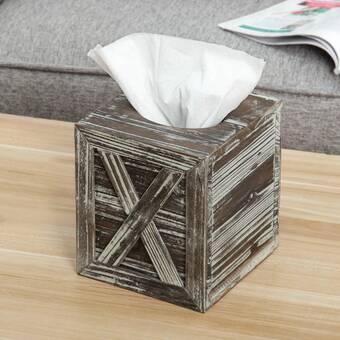 Greyleigh Stonington Concrete Stone Wooden Boutique Tissue Box Cover Reviews Wayfair