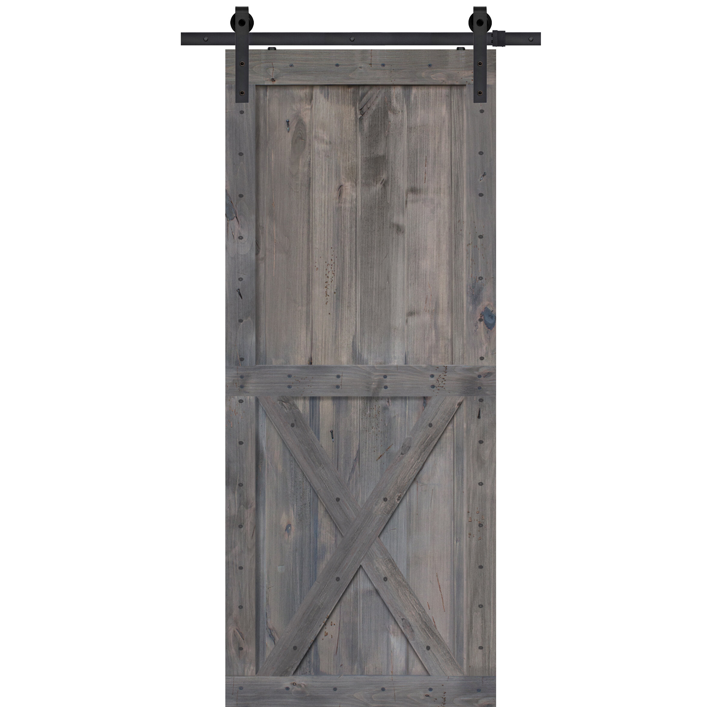 Barndoorz Paneled Wood Barn Door Without Installation Hardware Kit