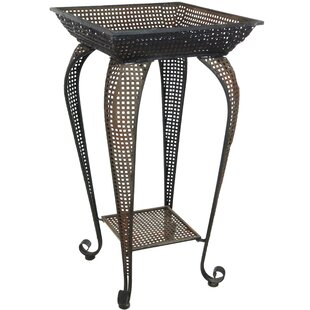 Best Reviews Pedestal End Table by Oriental Furniture