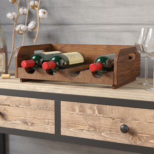 Labat Recycled Wood 4 Bottle Tabletop Win..
