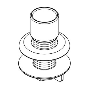 Central Brass Hose Guide and Mounting Kit