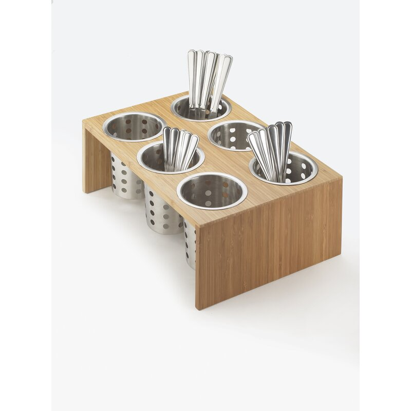 Cal Mil 6 Compartment Utensil Condiment Stand Wayfair