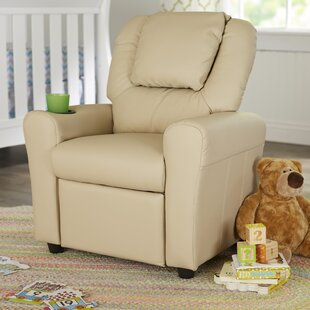 Contemporary Personalized Kids Recliner with Cup Holder by Flash Furniture