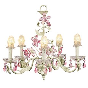 Jubilee Collection Flower 5-Light Shaded Chandelier