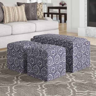 Reviews Mahoney 3 Piece Storage Bench and Ottoman Set ByAndover Mills