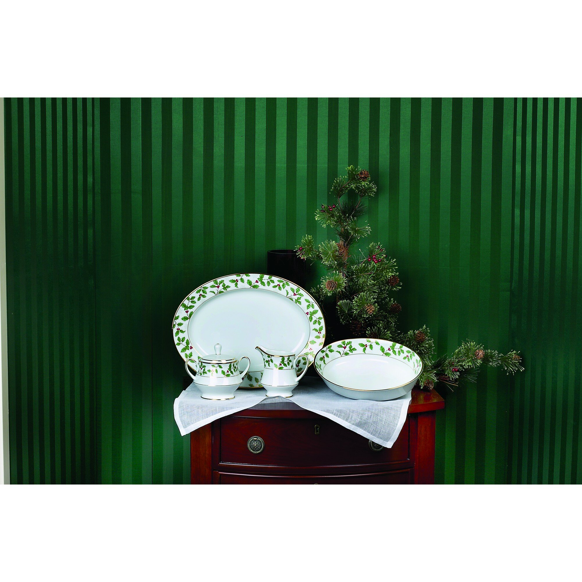 Noritake Holly And Berry Gold 8 Oz Creamer Wayfair
