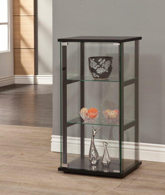 curio cabinet consoles zipcode design alvin curio cabinet reviews wayfair