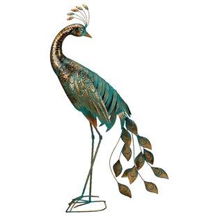 Regal Art & Gift Mohr Peacock Preening Statue