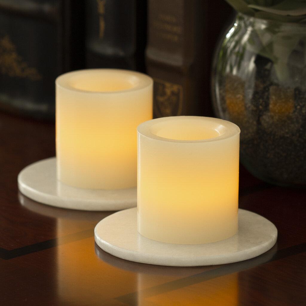 Ebern Designs Wax Pillar Unscented Flameless Candle Wayfair