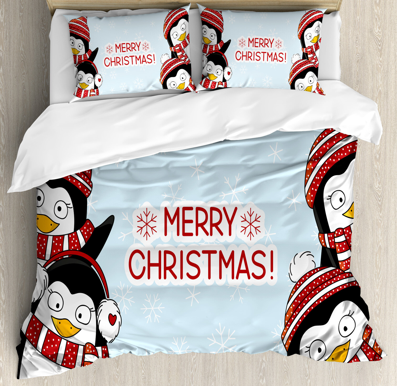 Christmas New Year Quote Cute Penguins