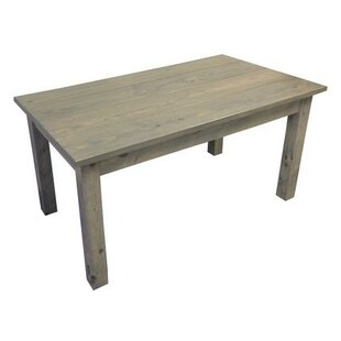 Arrowpoint Handcrafted Wood Solid Wood Dining Table by Bungalow Rose #2
