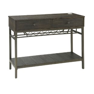 Whyalla Rustic Wooden Stylish Server by Breakwater Bay