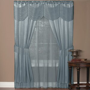 Avelines Solid Sheer Rod Pocket Single Curtain Panel (Set of 2)
