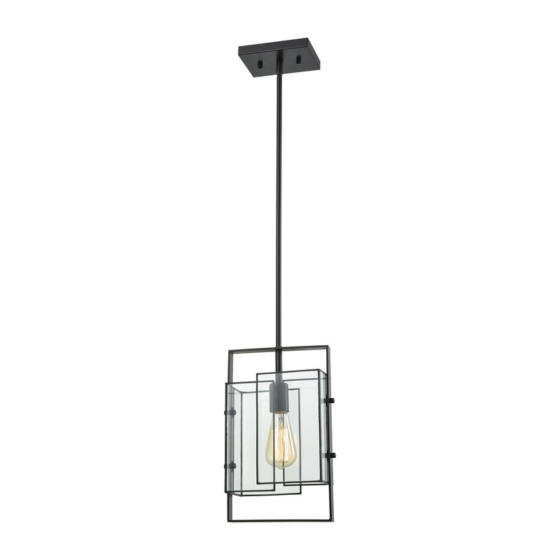 Brayden Studio Ximena 1 - Light Single Square / Rectangle Pendant