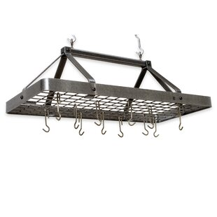 USA Handcrafted Carnival Rectangle Hanging Pot Rack By Enclume