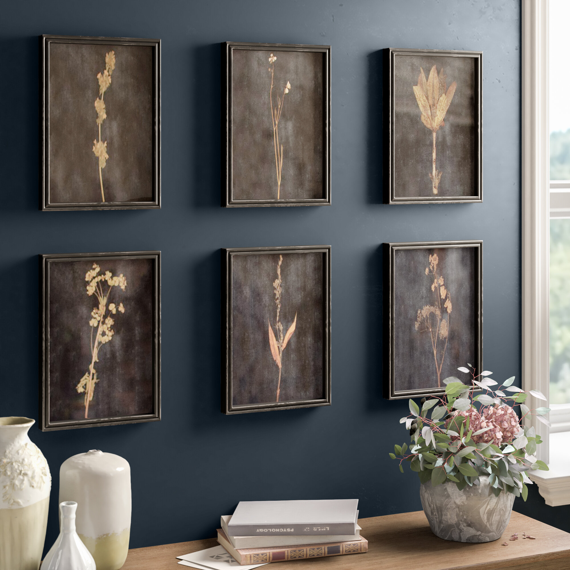 Sprig 6 Piece Picture Frame Photograph Print Set On Wood Reviews Birch Lane
