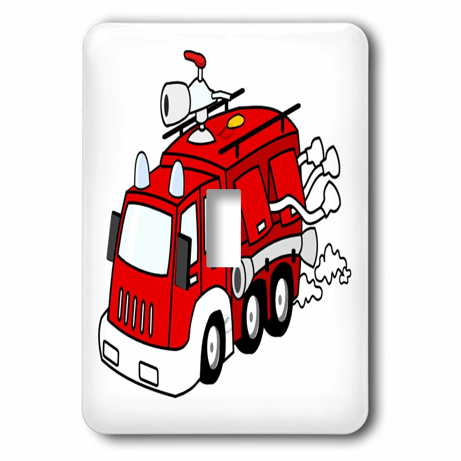 3drose Cute Fire Truck 1 Gang Toggle Light Switch Wall Plate Wayfair