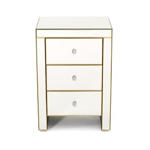 Oliverson 3 DrawerNightstand by Rosdorf Park