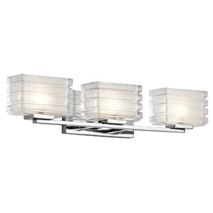 Latitude Run Arndell Park Wall Mount 3-Light Vanity Light