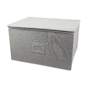 In This Space Twill Foldable Storage Chest for Stemware Ornaments and Odd-Shape Plates