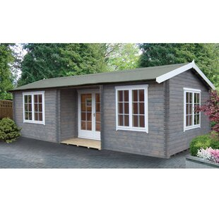 Vinalhaven 26 X 14 Ft. Tongue And Groove Log Cabin By Sol 72 Outdoor