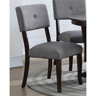 Ebern Designs Levon Wood Side Upholstered Dining Chair (Set of 2)