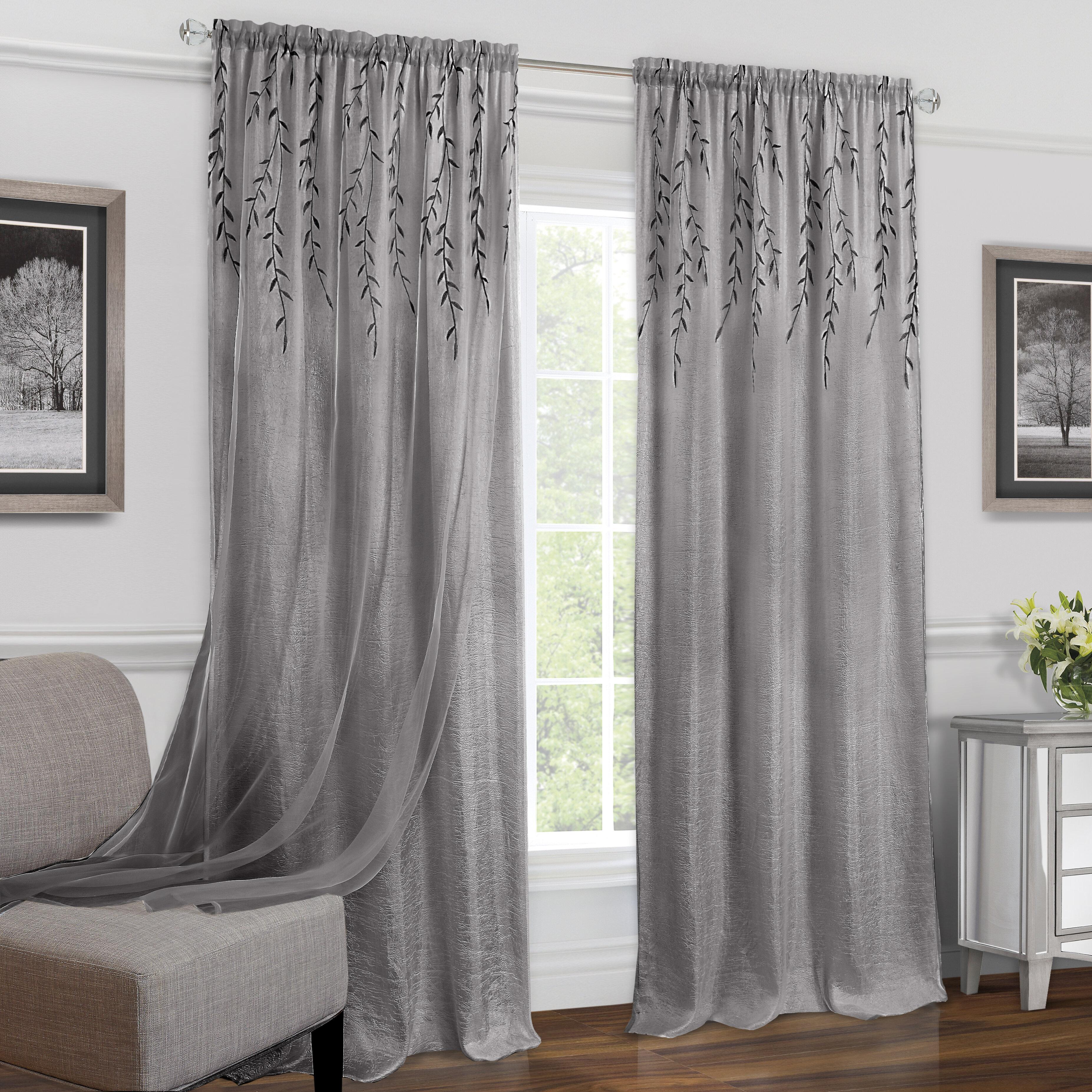 Charlton Home Hadlee Solid Semi Sheer Rod Pocket Single Curtain Panel Reviews Wayfair