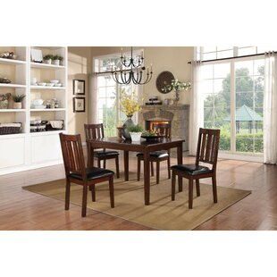 Soderquist Dinette 5 Piece Solid Wood Dining Set Red Barrel Studio
