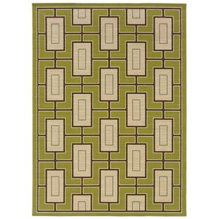 Emelle Green/Ivory Indoor/Outdoor Area Rug