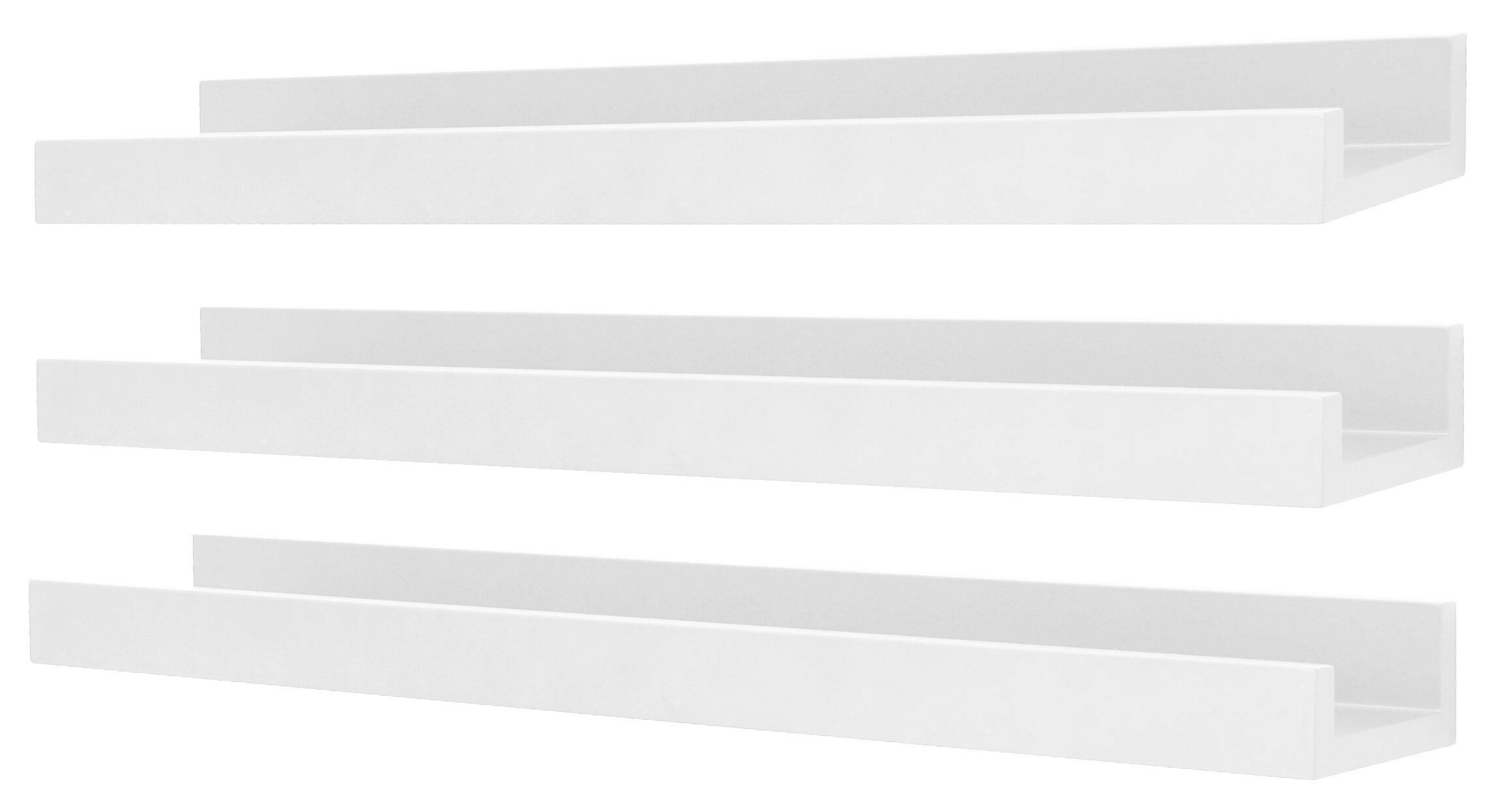 zipcode design waycross 3 piece floating shelf set w