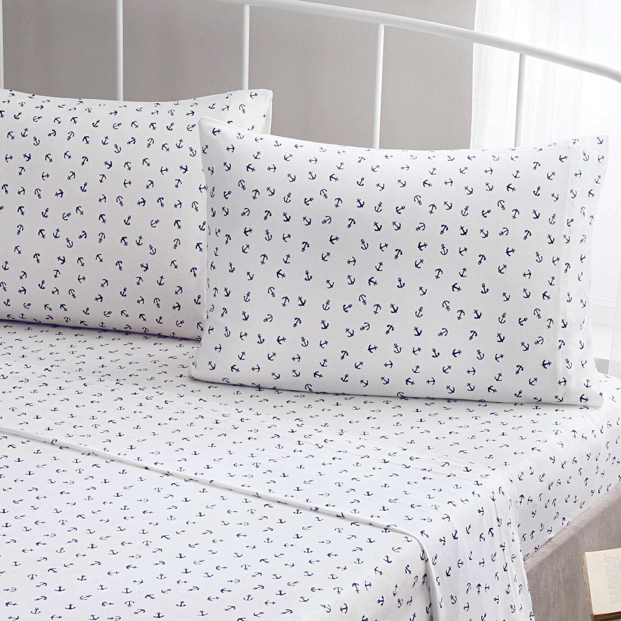 Delicieux Brielle Anchor 100% Printed Cotton Jersey Sheet Set U0026 Reviews | Wayfair