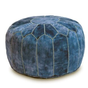 Makan Moroccan Leather Pouf