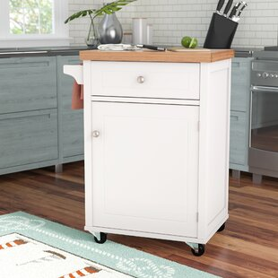 Begonia Kitchen Trolley With Bamboo Top By Beachcrest Home