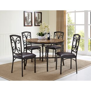 Vaughan 5 Piece Dining Table Set Fleur De Lis Living