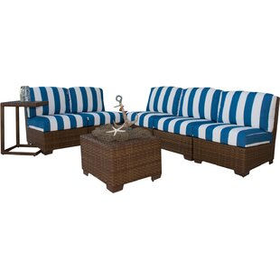 Panama Jack Outdoor Panama Jack 8 Piece Sectional Set with Cushions