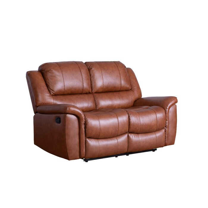 Fabulous Keziah Genuine Leather Reclining Loveseat Gmtry Best Dining Table And Chair Ideas Images Gmtryco