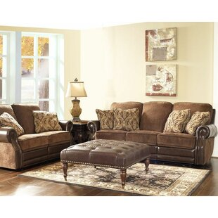 Shop Eleanor Vintage 64 W Power Leather Reclining Loveseat by Fleur De Lis Living