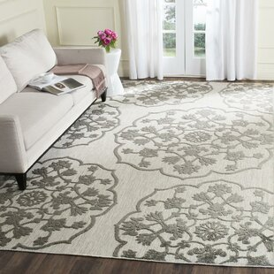 Oakmont Gray/Cream Indoor/Outdoor Area Rug by Three Posts Today Only Sale