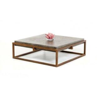 Brayden Studio Hermitage Square Shape Steel Framed Coffee Table