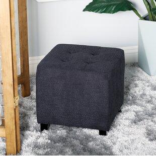 Stenson Contemporary Square Tufted Cube Ottoman
