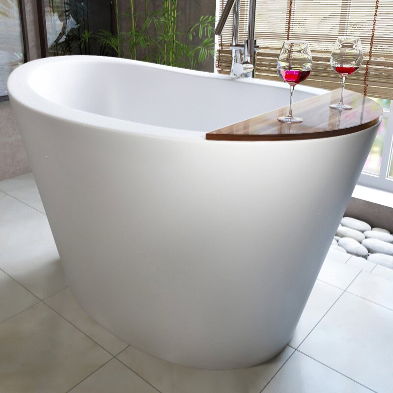 "True Ofuro 52"" x 36"" Freestanding Soaking Bathtub"