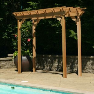 Cedar New Dawn 12 Ft. W x 3 Ft. D Solid Wood Pergola by Creekvine Designs