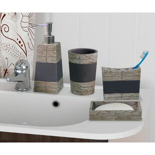 loeffler rustic stone 4 piece bathroom accessory set - Bathroom Sets