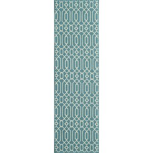 Halliday Traditional Blue Indoor/Outdoor Area Rug
