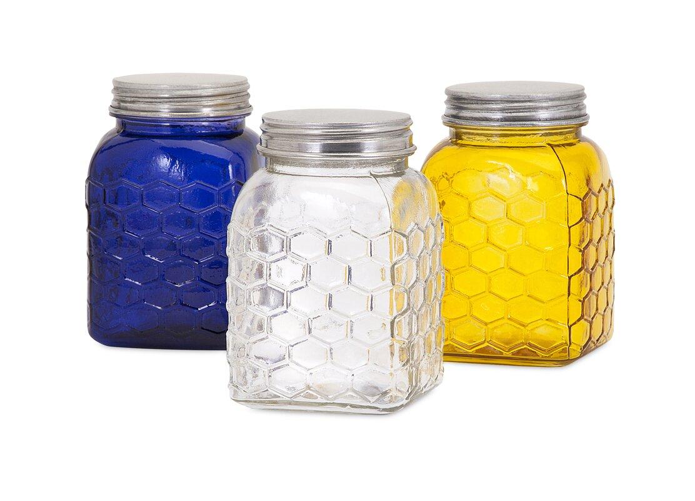 honey bee 3 piece kitchen canister set u0026 reviews birch lane
