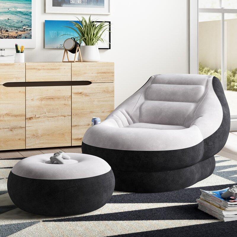 Trule Dunbar 2 Piece Reclining Chaise Lounge Set