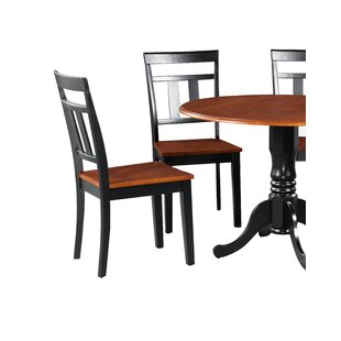 Dahle Solid Wood Dining Chair (Set of 4) August Grove