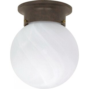 Coeymans 1-Light Ball Semi Flush Mount by Winston Porter